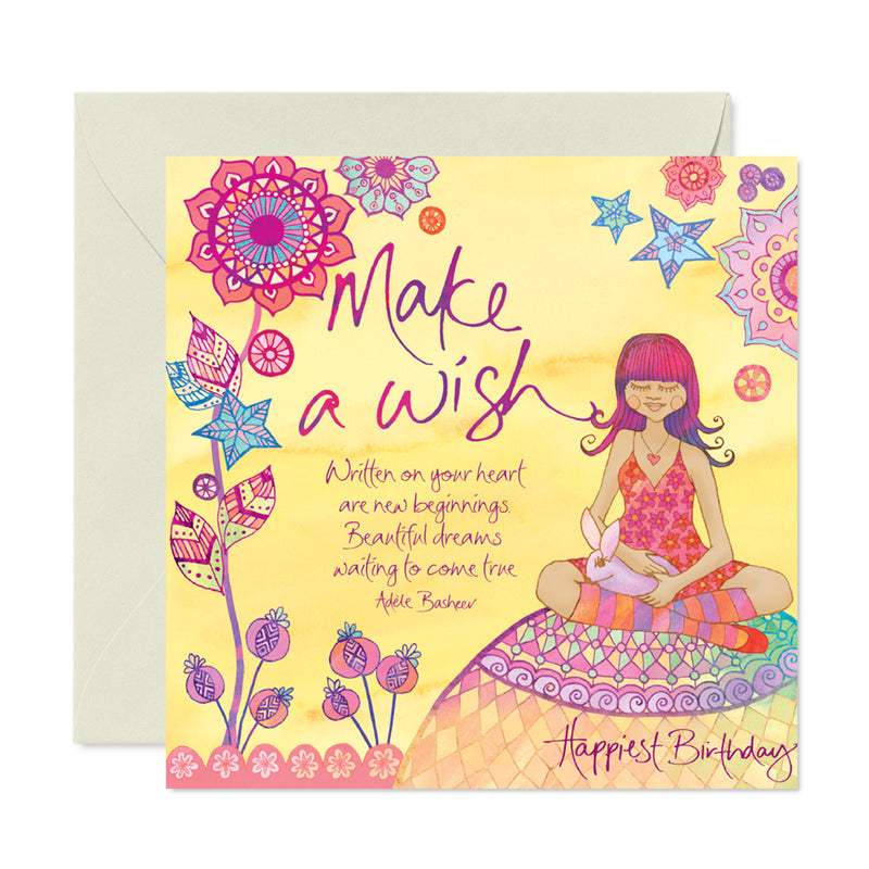 Admirable Birthday Make A Wish Greeting Card Intrinsic Personalised Birthday Cards Paralily Jamesorg