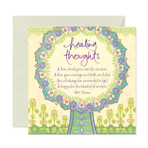 Sympathy Healing Thoughts Greeting Card