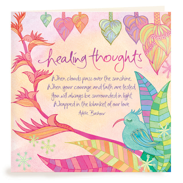 Healing Thoughts Greeting Card – Intrinsic