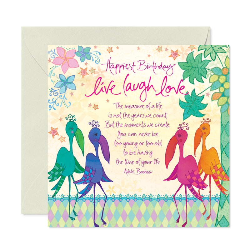 Intrinsic Colourful Tropical Birthday Greeting Card