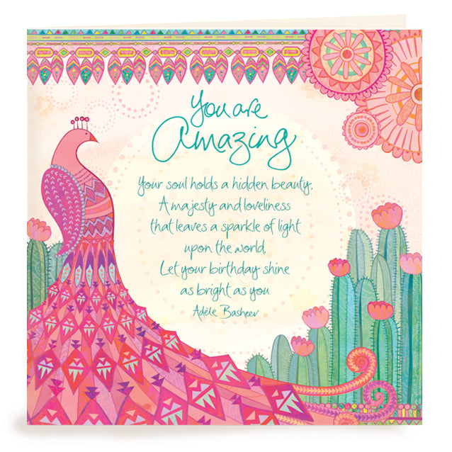 Intrinsic Birthday You Are Amazing Greeting Card