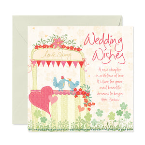 Illustrated Wedding Wishes Greeting Card