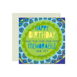 Male Happy Birthday Greeting Card with Adele Basheer Message
