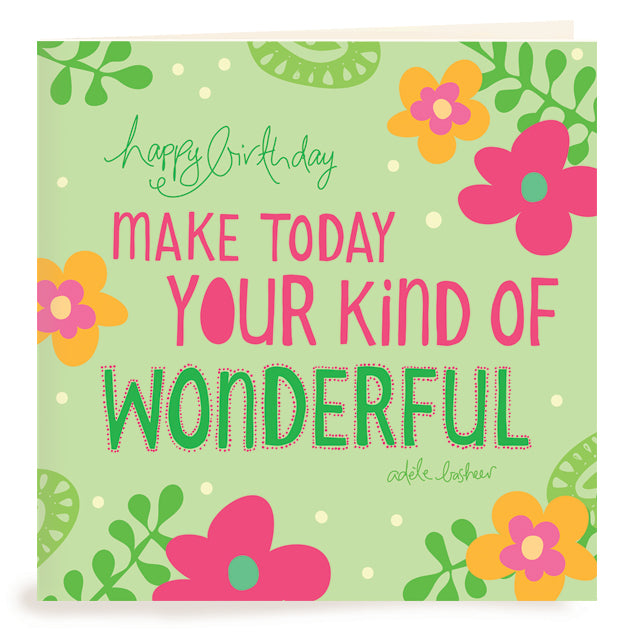 Intrinsic Birthday Wonderful Greeting Card