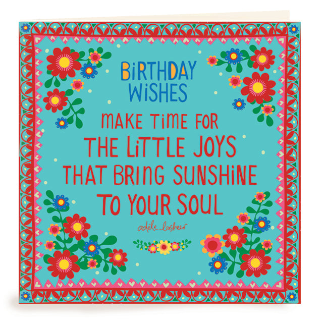 Birthday Wishes Sunshine Greeting Card