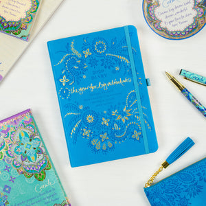 2020 Intrinsic Blue Diary, Planner and Journal with inspirational quotes and motivating tools
