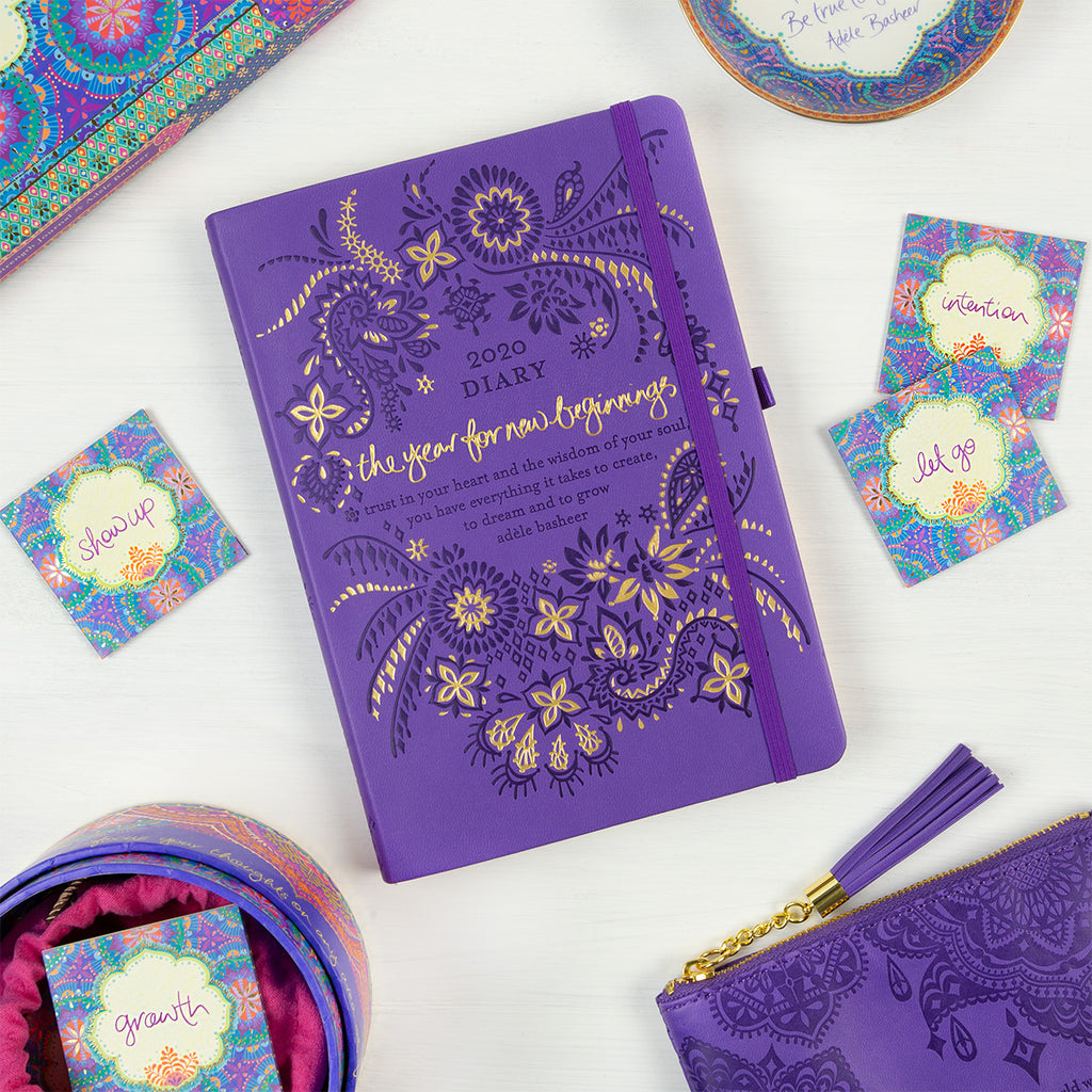 2020 Intrinsic Violet Purple Diary, Planner and Journal with inspirational quotes and motivating tools