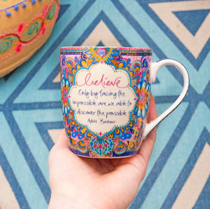 Australian Inspirational Coffee Mug with Believe Inspirational Quote