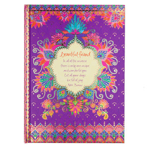 Intrinsic Gifts Purple Friendship A5 Stationery Journal