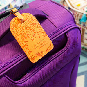 Intrinsic Sunrise Orange Travel Luggage Tag