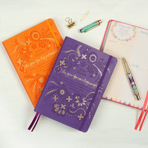 Intrinsic 2020 Colourful Diaries/Planners - Purple Diary and Orange Planner