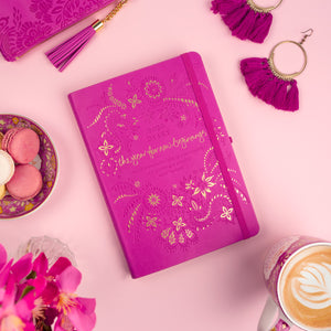 Intrinsic 2020 Inspirational Mystic Magenta Pink Pretty and Cute Diary, Planner + Journal