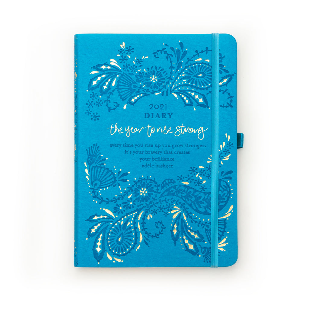 Intrinsic Adèle Basheer Amalfi Blue 2021 Diary, Planner and Journal with inspirational quotes