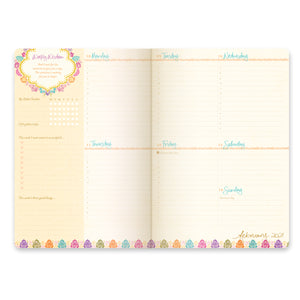Intrinsic 2021 Diary and Planner weekly spread with inspiring quotes