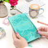 Intrinsic Australian Inspirational Turquoise Aqua 2021 Diary Planner Journal with Adèle Basheer positivity quotes - new beginnings