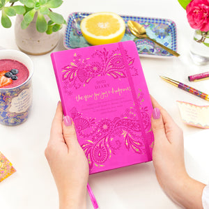 Intrinsic Hot Pink Magenta 2021 Planner Diary with Australian Adèle Basheer inspirational and positivity messages and mantras