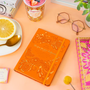Intrinsic 2021 Orange Planner Diary with Adèle Basheer joy and happiness inspirational quotes