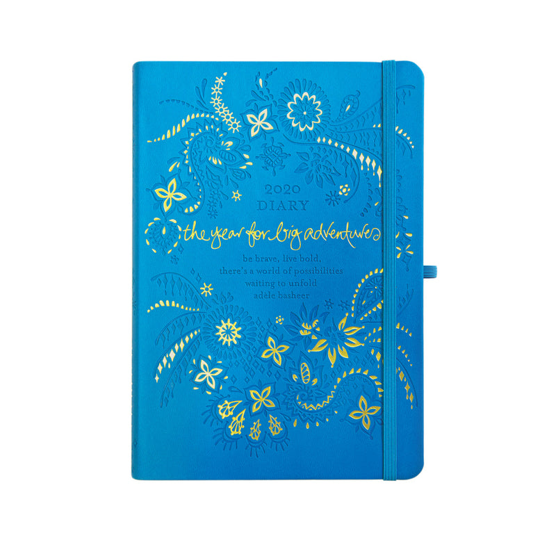 2020 Intrinsic Inspirational Amalfi Blue Diary, Planner, Journal, Organiser