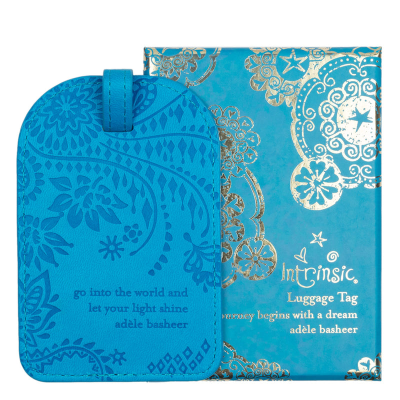 Intrinsic Amalfi Blue Boho Travel Luggage Tag