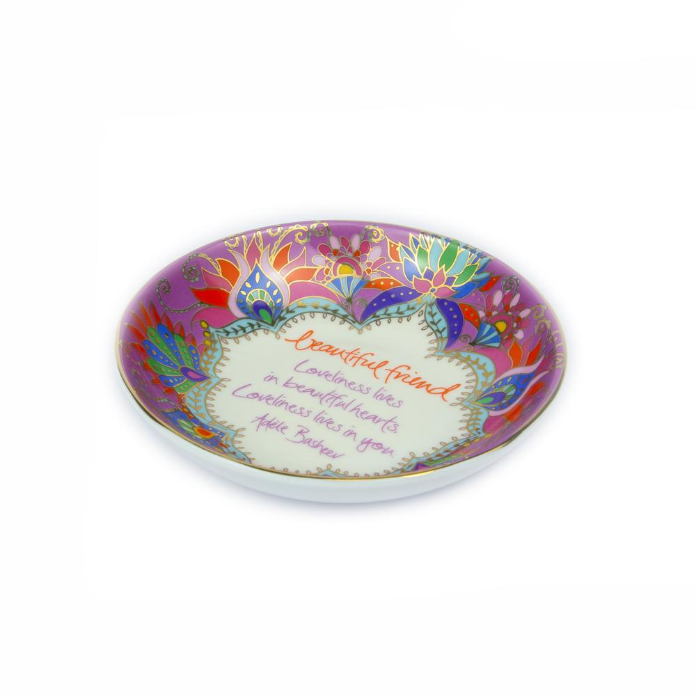 Purple Ceramic Jewellery Round Dish