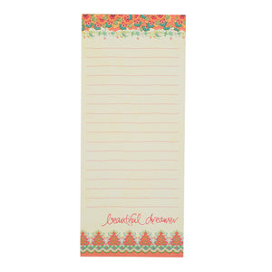Intrinsic Beautiful Dreamer Coral Boho To-Do List Pad Set