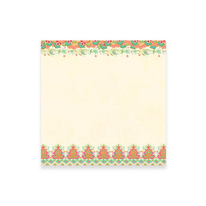 Coral Office Stationery Note Paper with Illustrated Decorative Trim