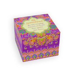 Intrinsic Purple Beautiful Friend Jewellery Gift Box with aspirational quote