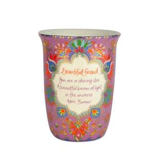 Purple Ceramic Travel Mug with Adele Basheer Quote