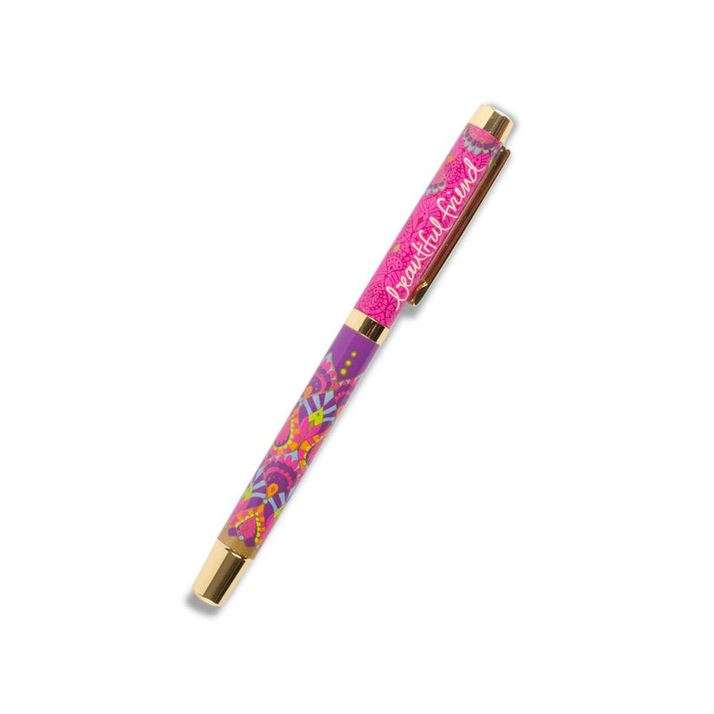 Intrinsic Beautiful Friend Rollerball Pen with Purple Ink