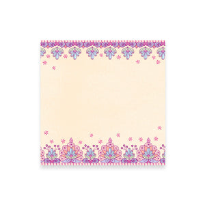 Purple and Pink Patterned Office Stationery Note Paper