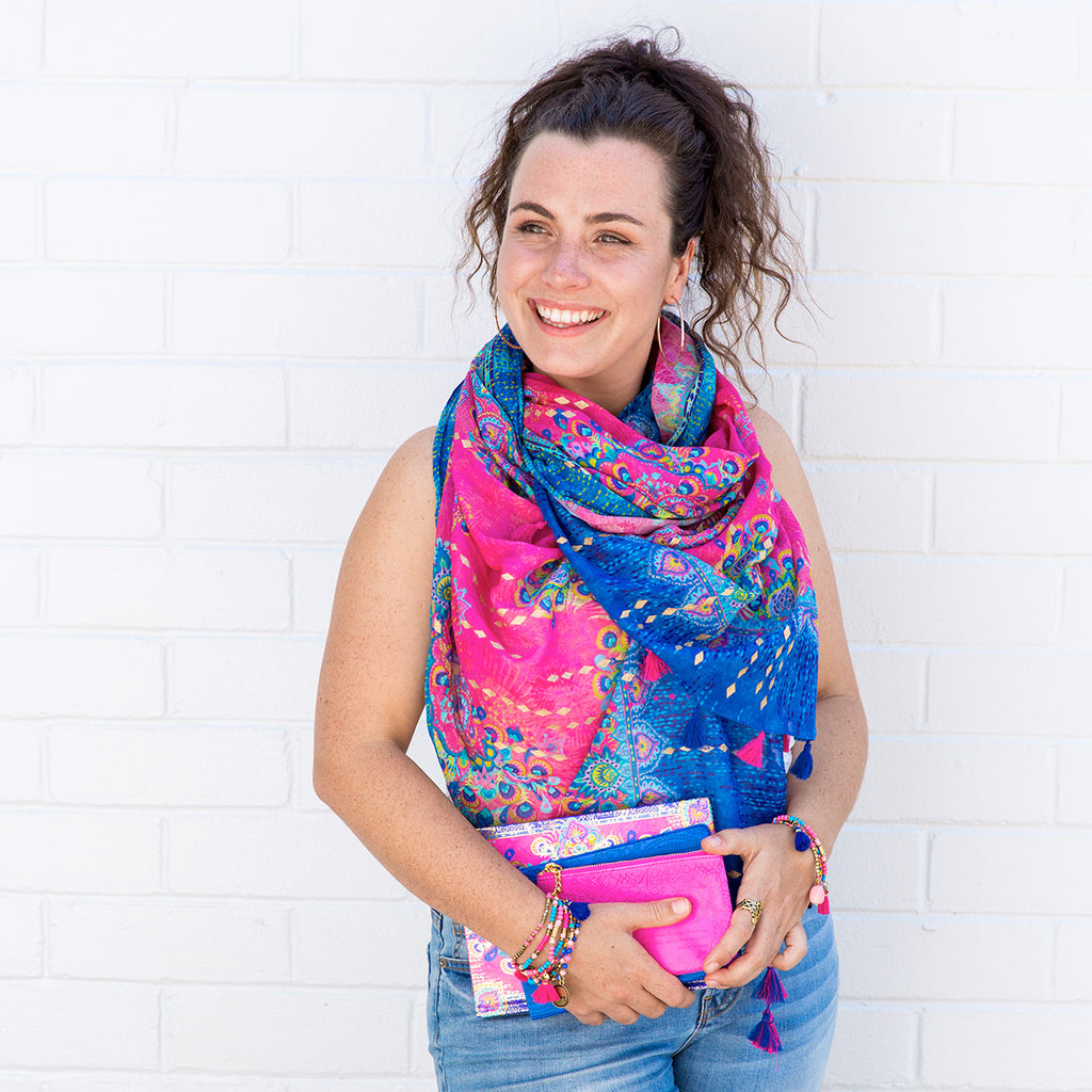 Intrinsic Believe Summer Scarf with matching bracelets, guided journal and coin purse