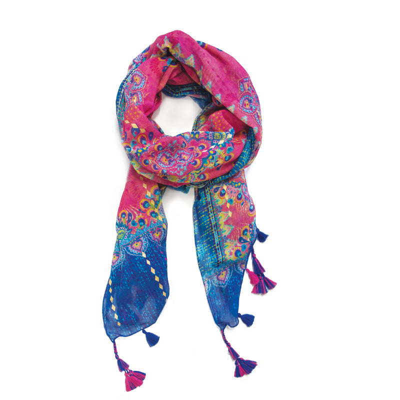 Intrinsic Believe Tassel Scarf Folded