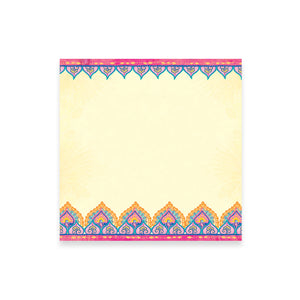 Hot Pink and Blue Mandala Pattern Note Paper