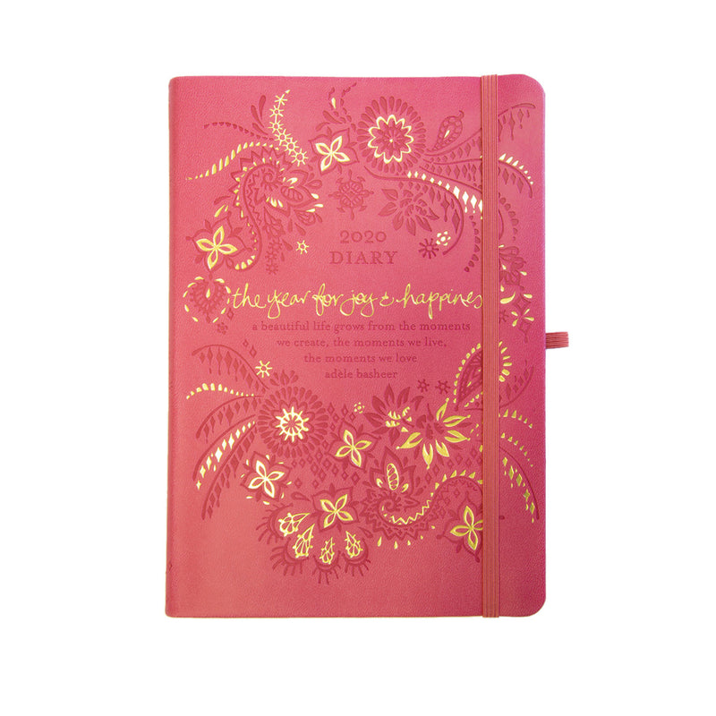2020 Intrinsic Coral Pink Diary, Planner and Journal with inspirational quotes and motivating tools