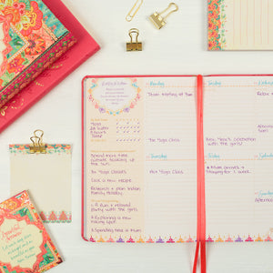 Intrinsic Coral Crush 2020 Diary and Pink Stationery for daily planning and goals