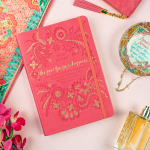 Intrinsic Coral Crush Pink-Orange Inspirational Diary, Stationery and Daily Organiser