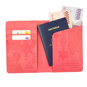Intrinsic Travel Accessories Coral Crush Passport Wallet