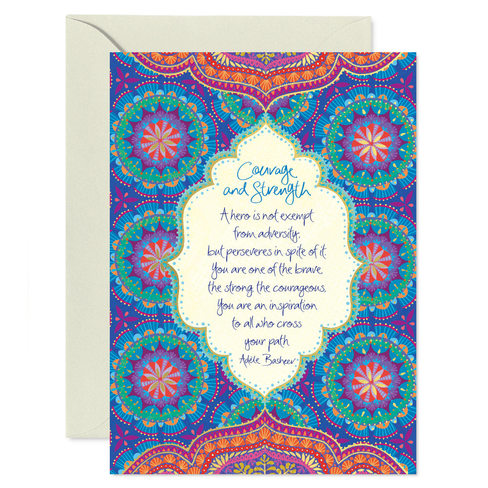 Intrinsic Courage & Strength Greeting Card with Adèle Basheer inspirational message