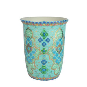 Turquoise Boho Patterned Ceramic Coffee Travel Mug
