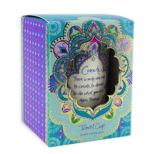 Intrinsic Turquoise Illustrated Travel Mug Gift Box