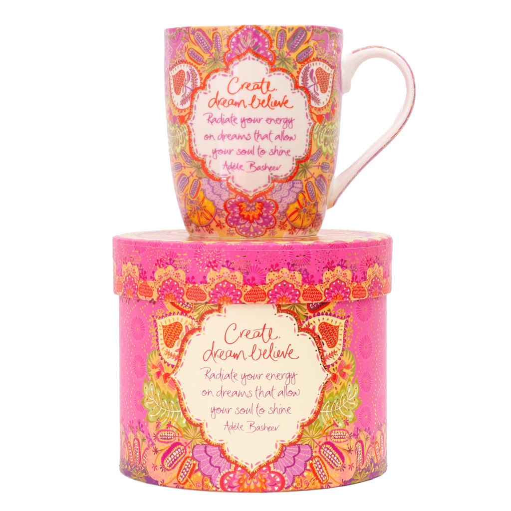 Intrinsic Adèle Basheer Create Dream Believe Inspirational Coffee Mug