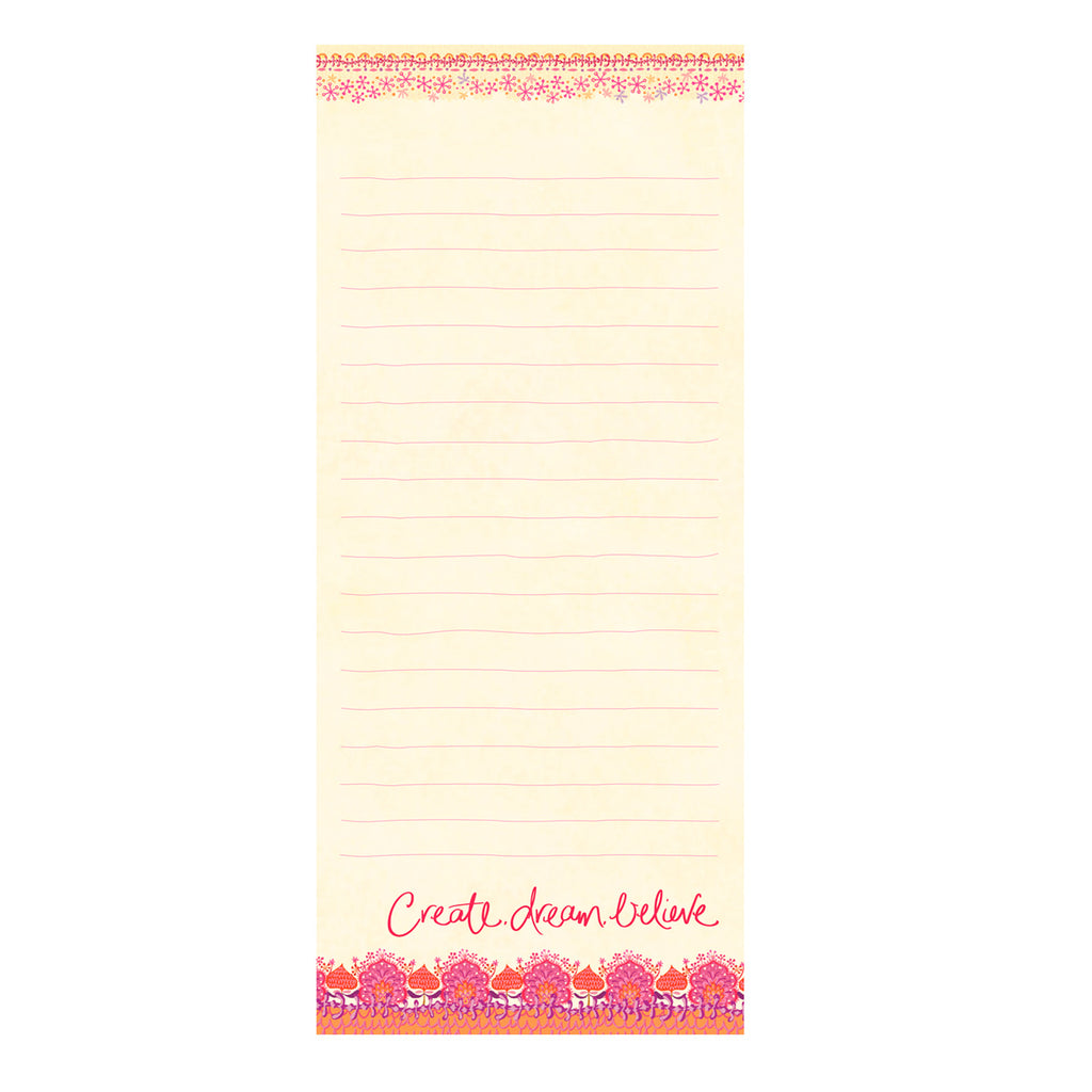 Intrinsic Hot Pink Create Dream Believe To-do List Pad
