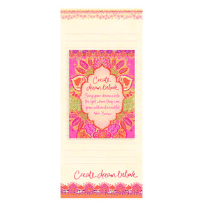 Intrinsic Create Dream Believe Hot Pink Magnetic Shopping List Pad Set
