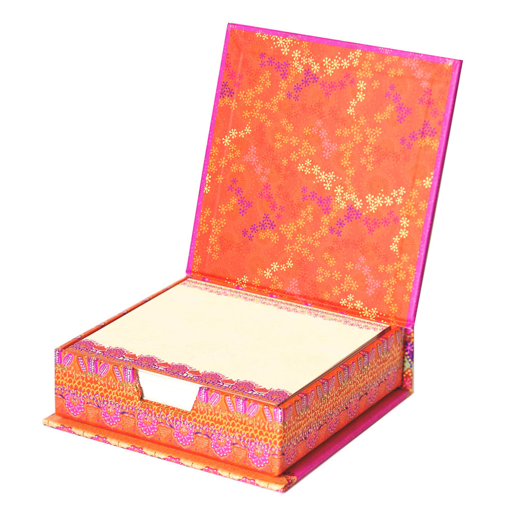 Intrinsic Create Dream Believe Pink and Orange Notepaper Box