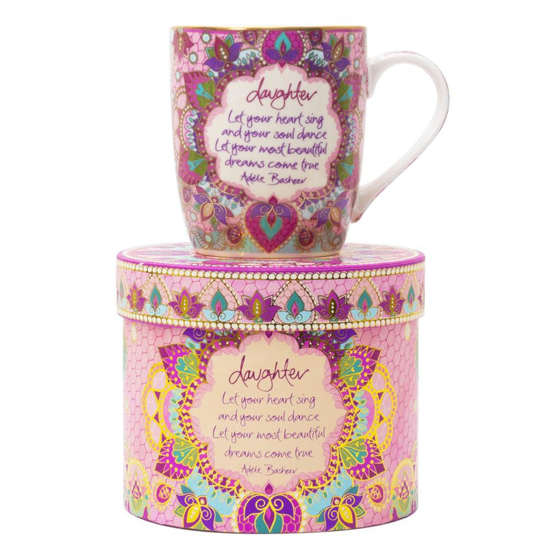 Family Gifts Pink Daughter Mug with Adele Basheer Quote