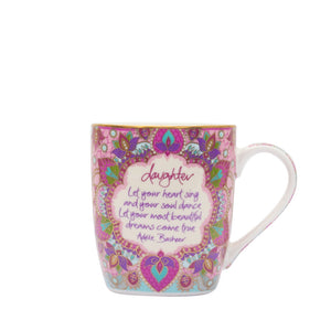 Intrinsic Pink and Purple Daughter Ceramic Coffee Mug