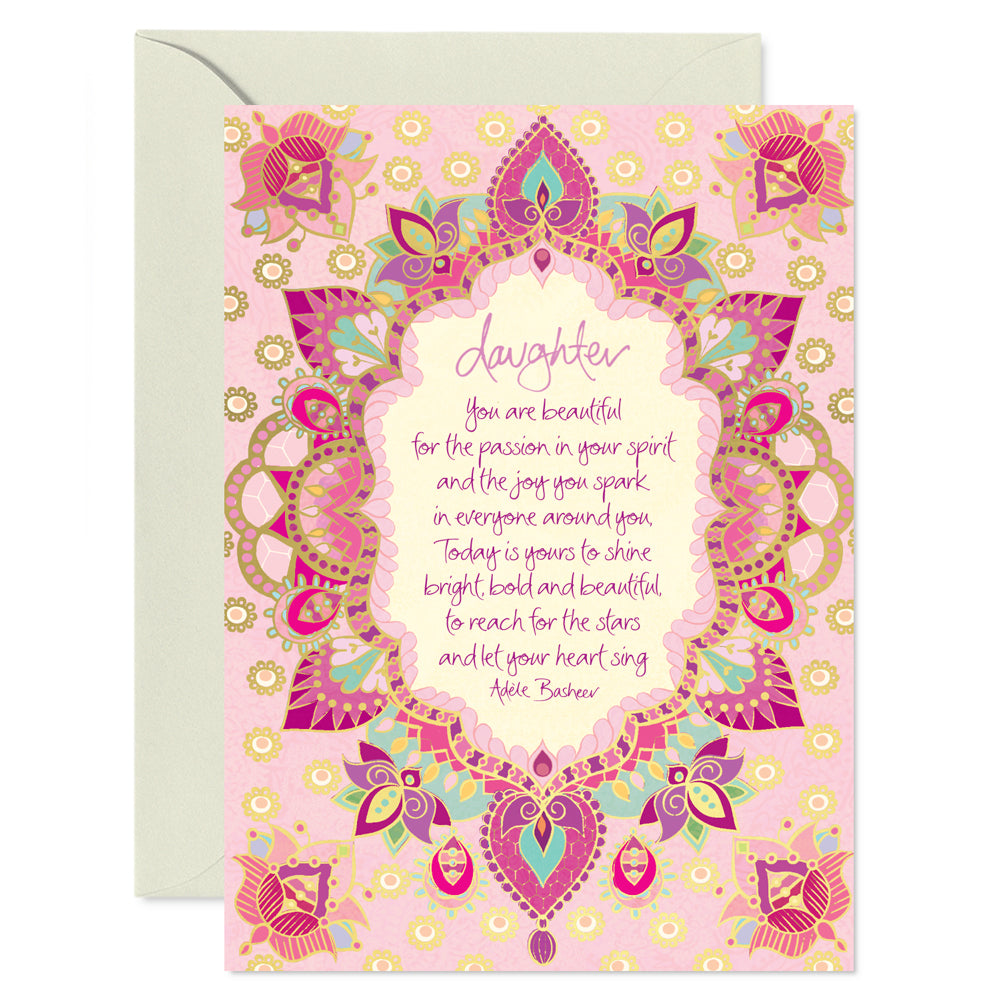 Intrinsic Daughter Greeting Card - Quote by Adele Basheer