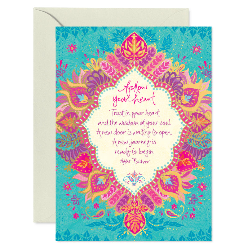 Intrinsic Follow Your Heart Inspirational Greeting Card