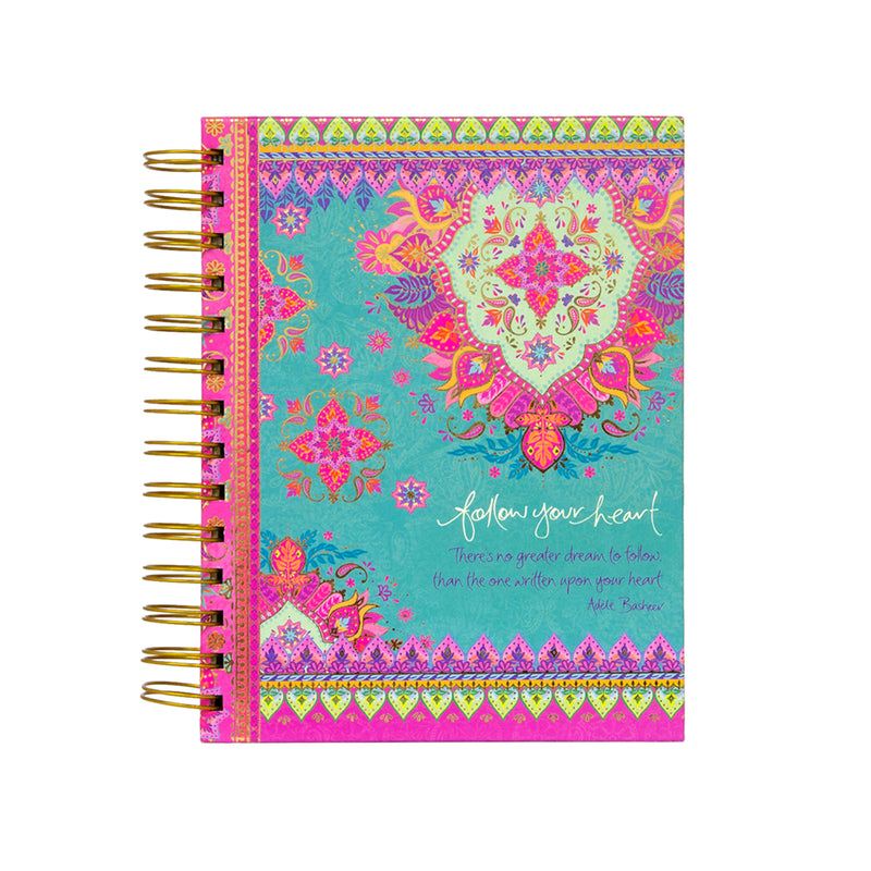 Intrinsic Follow Your Hear Lined Spiral Notebook