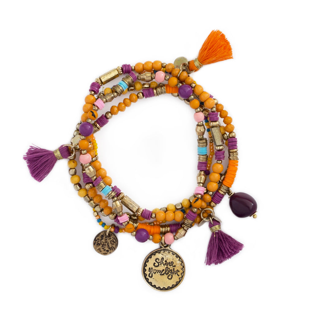 Gypsy Wanderer 'Shine Your Light' Bracelet Stack